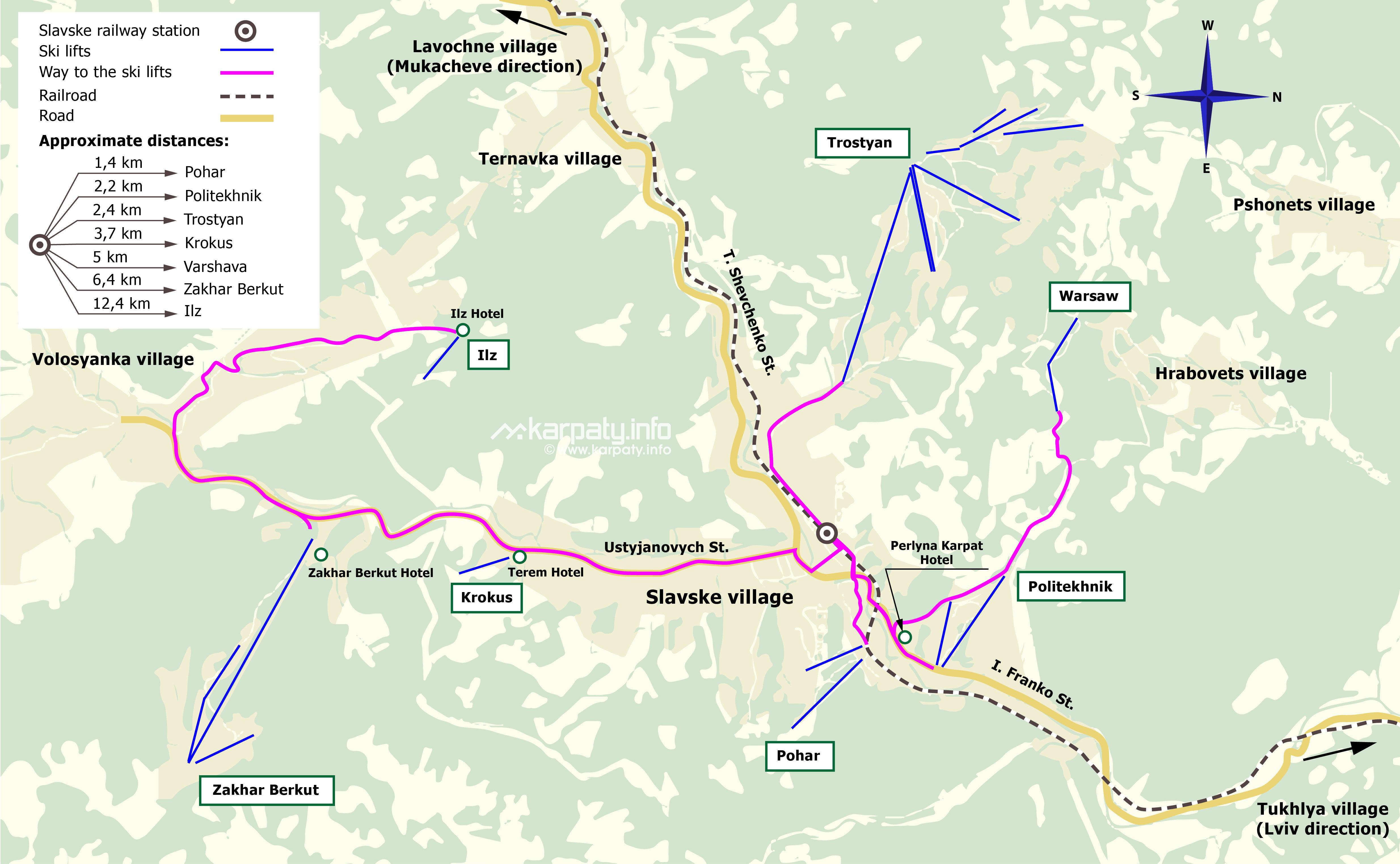 Volosyanka: a selection of sites