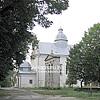 St. Nicholas church (16th cen., 1765 rebuilt) with a bell tower (1886)