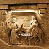 The sculptures carved in rock salt in the Salt Mine (1st cent.)