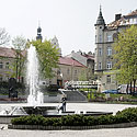The fountain and the public garden (Franciszkańska St.)