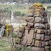 Памятники на старинном кладбище около костела