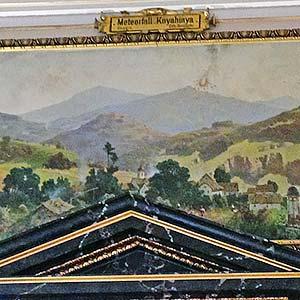 "Painting of Carlo Brioschi ""Fall of Knyahynya meteorite"""